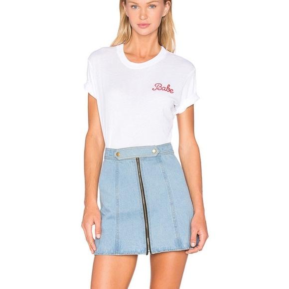 2107849189 Understated Leather Denim Skirt Revolve S. M 5b78c94734a4ef70bda8a1c1
